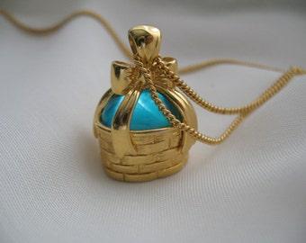 Joan Rivers Basket with Egg Pendant