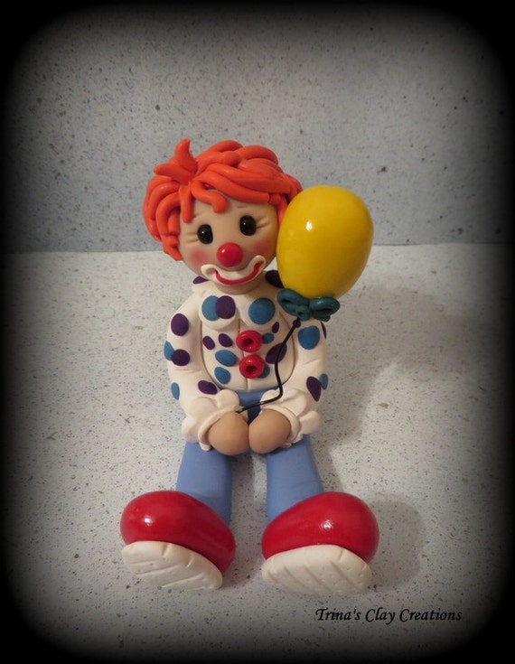 Polymer Clay Clown With A Balloon