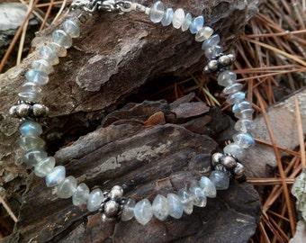Labradorite Bracelet. Labradorite And Sterling Silver Bracelet. Labradorite Properties. Handmade. Mineral Bracelet.