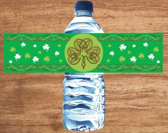 Instant Download Saint Patrick's Day Irish Party Water Bottle Labels