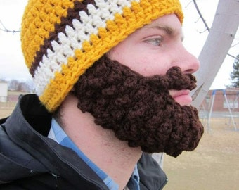 SALE!! Adult ULTIMATE Bearded Beanie Gold Mix