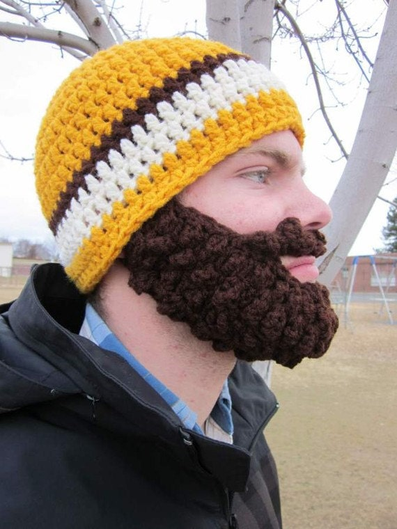 20% OFF Adult ULTIMATE Bearded Beanie Gold Mix