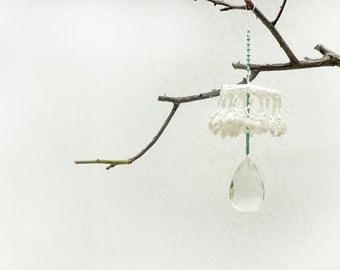 Wedding Romantic  Decor, Crochet & Crystal  decor, Unique  Wedding decor  Ornaments , Holiday gift idea, Shabby chic wedding decor.