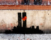 Banksy Canvas (READY TO HANG) - Two Towers  - Multiple Canvas Sizes