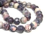 Porcelain Jasper beads, Terra Rosa 10mm round natural gemstone, full & half strands  (580S)