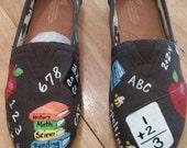 Customized pair for Ilene B.. Teacher shoes