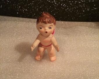 Vintage Valentines Hand Painted Cupid Baby Figurine