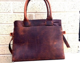 Custom tote bags, Leather tote handbags, Custom made bags, Tote bag purse, Handmade leather purse, Brown leather handbags, American made