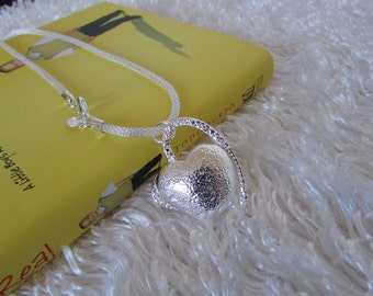 Heart Necklace,Heart Pendant, Sterling Silver Necklace,Gift,Birthday Gift Was 25.50 Now 19.99