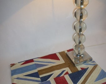 Union Jack Flag Placemats 4 Funky Retro Fabric washable