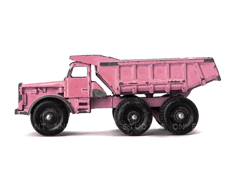 Toys Pink Dump Truck : Pink toy dump truck photo print girls room decor