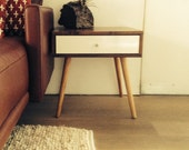 Jeremiah Collection Midcentury Side Table With Drawer