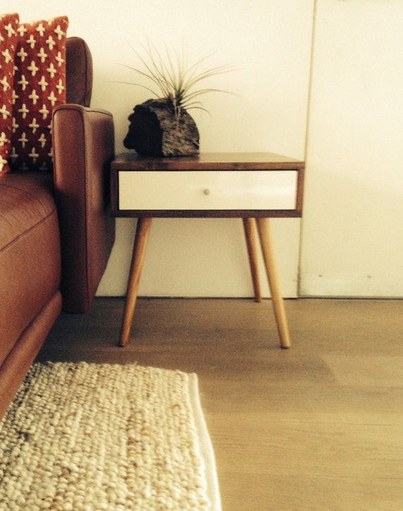 Midcentury Side Table With Drawer