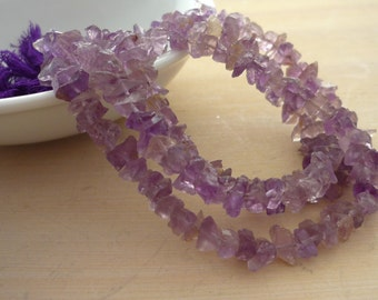 Rough amethyst nugget beads 4-9mm 1/2 strand