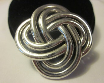 Vintage TRIFARI Silver Tone Fashion Brooch