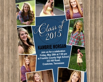 Graduation Collage Invitation