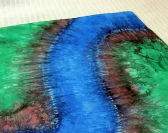 Winding River Playsilk ~ Play Mat ~ Hand Dyed ~ Waldorf Inspired!
