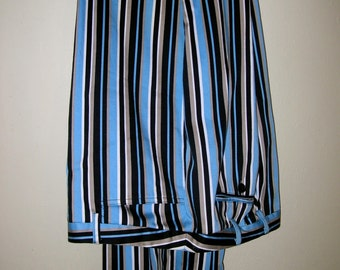 Vintage Stretch Stripe Plush Cotton Slacks small Size 12