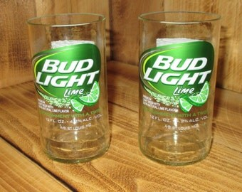 Upcycled Bud Light Lime Juice Glasses