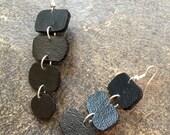 Black Pleather Sensual Earrings by VZuniga Designs