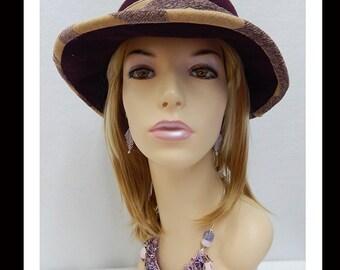 Women's Handmade Felted Cloche Hat-352 Women's Felted Cloche Hat, Vintage, Hat, Handmade, Fall-Winter, cloche felt hat, Downton abbey