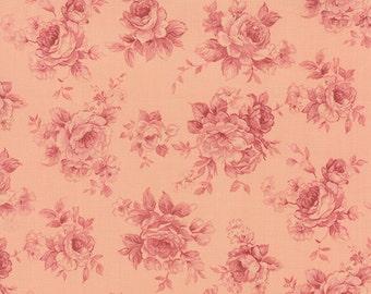 Roses & Chocolates - Tonal Roses in Rose by Sentimental Studios for Moda Fabrics