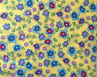 Ditsy flowers- yellow by the half metre spring fabric