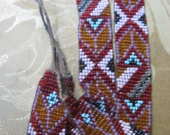 Museum Piece Native American CHEOKEE Hand BEADED Authentic Necklace Belt