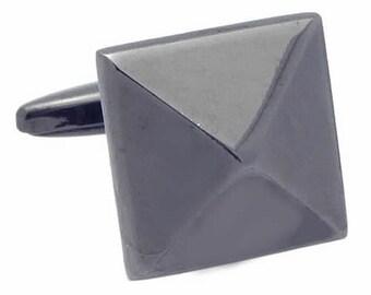 Studded black Cufflinks