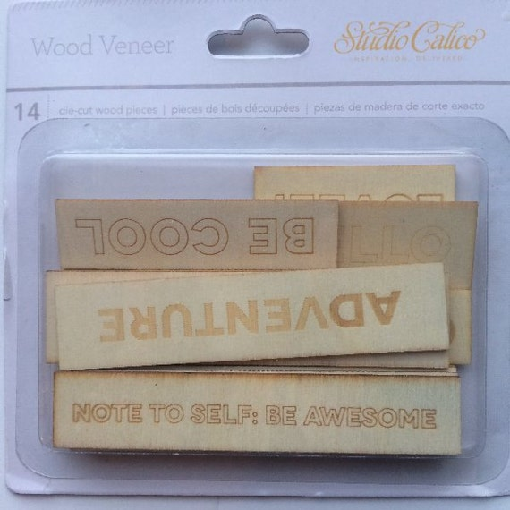 Studio Calico Embossed Wood Phrases
