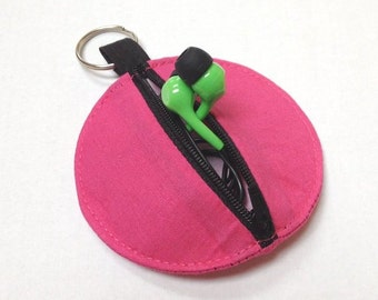 personalized POUCH for earbuds / coins / cards / small items - color choices