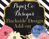 Coordinating Backside Design Add-on