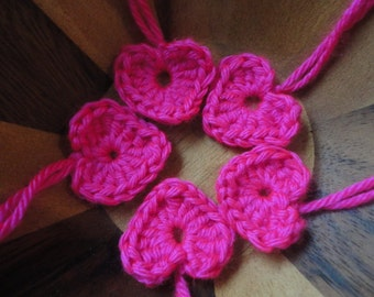 20 crocheted hearts valentine's day gift tags love wedding bridal baby shower