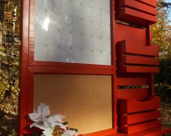 Dry Erase Magnetic Calender/Message center/Corkboard Center/Message Board/Mail Holder