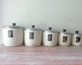 Vintage Duchess Kitchen Canister Set