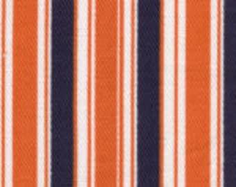 Fabric Finders Navy Orange Stripe Twill