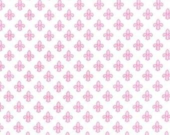 Petite Fleur De Lis - Rose - Michael Miller