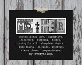 MOTHER Letter Art Print - Letter Art Photography - Mother's Day Gift/Gifts for Mom/Meaningful/Birthday/Christmas