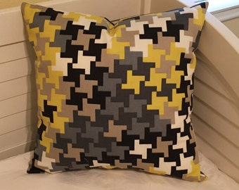 SALE- Trina Turk for Schumacher Jax Print in Driftwood on BOTH SIDES Indoor Outdoor Designer Pillow Cover - Square, Euro and Lumbar Sizes