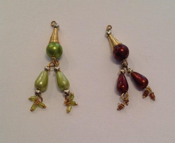 4 x Indian acrylic charms