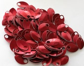 100 Red Anodized Aluminum Scales Leaves
