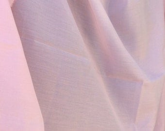 Pale Pink Light Weight Vintage Fabric   Solid Pink Fabric, Retro Fabric,  Quilting Fabric, Vintage Lining Fabric, Pink Lining, See Through