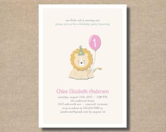 DIY / Little Cub Birthday Invitation / printable