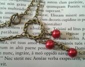 Antique Bronze Circle Dangle Necklace