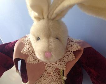 Mark Roberts Stuffed Jester Rabbit