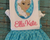Elsa inspired Minnie outfit, disney frozen
