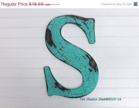 Summer sale large letter s wall letter wood by for Large letter k wall decor