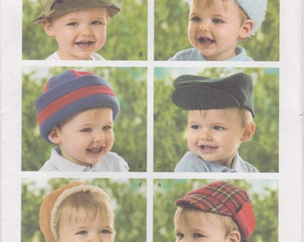 """Infant Hat Pattern Toddler Hunting Cap With Flaps Size 17"""" to 20"""" uncut  Simplicity 3555"""