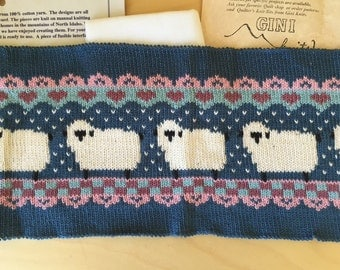 """New Vintage """"Quilter's Knit Bit"""" Handloomed Sheep Patch Kit"""