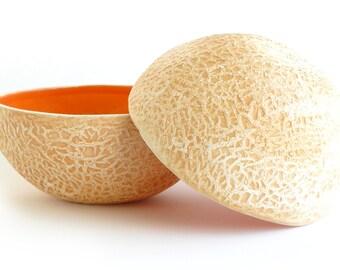 Pair of Cantaloupe Bowls